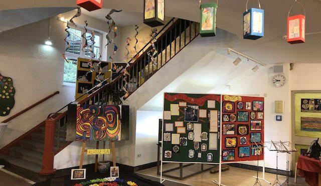 Kunstausstellung und Flohmarkt 29.9.2019, Schule Frohmestraße