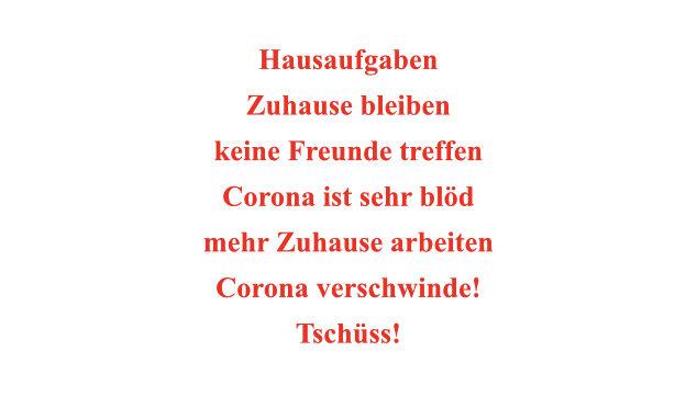 Corona Gedichte aus der 3a