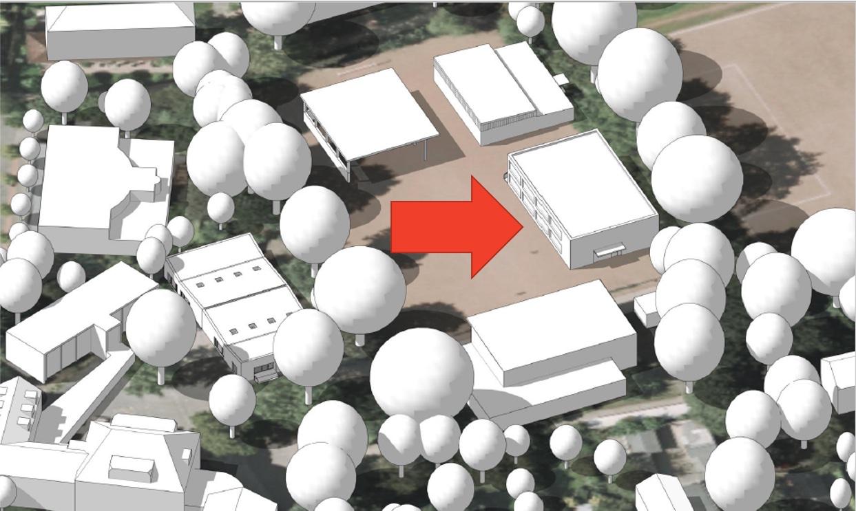 Skizze Bauprojekt Schule Frohmestraße